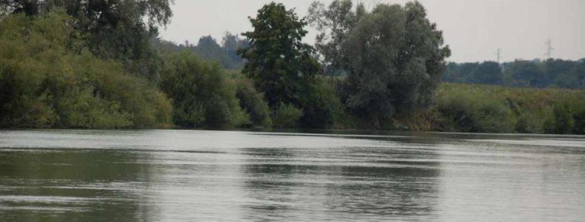 La Marne aux alentours de Meaux en bateau