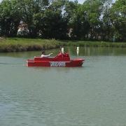 Le bateau de pompier