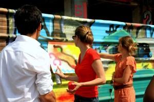 Canal de l'Ourcq, les artistes sont à l'oeuvre ! Concours de Tag...