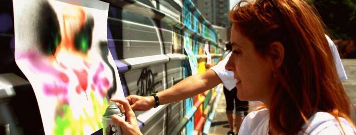 Canal de l'Ourcq, essayer de devenir un vrai artiste grapheur