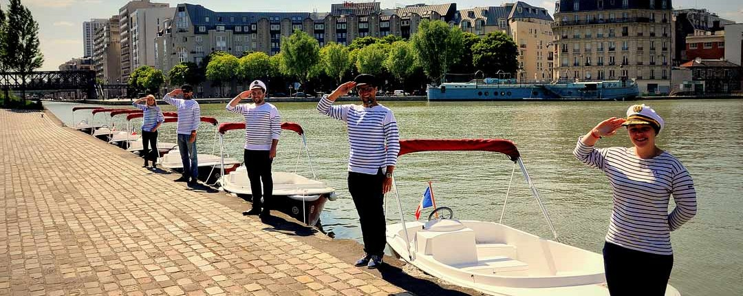 Bassin de la Villette, vos capitaines vous accueillent pour une après midi Team Building unique