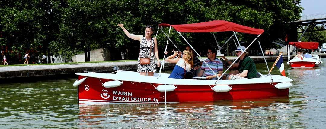 Canal de l'Ourcq, concours de photos lors des journées Team Building