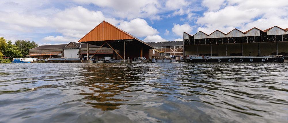 La Deûle : Vue exceptionnelle du port de Lille depuis les bateaux Marin d'Eau Douce