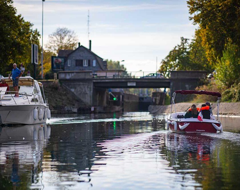 L'écluse 86 à Strasbourg : sur le canal Rhin-Rhône