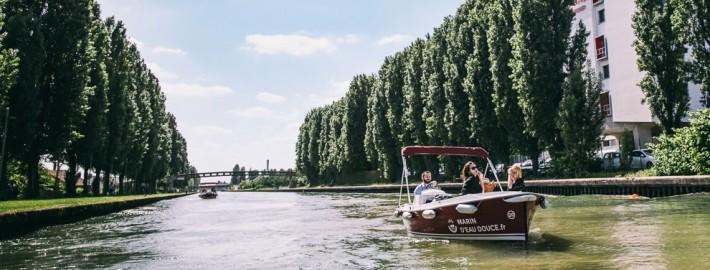 Escapade au fil de l'eau sur le canal de l'Ourcq