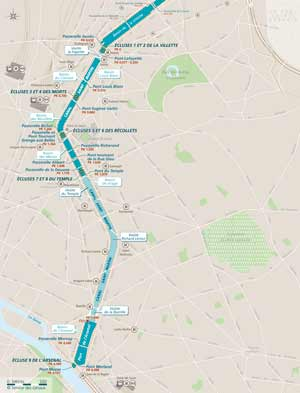 Itinéraire sur le canal Saint-Martin