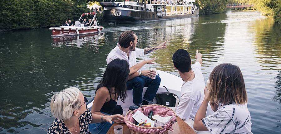 Itinéraires pour naviguer sans permis sur un bateau électrique à Lille (Deûle)