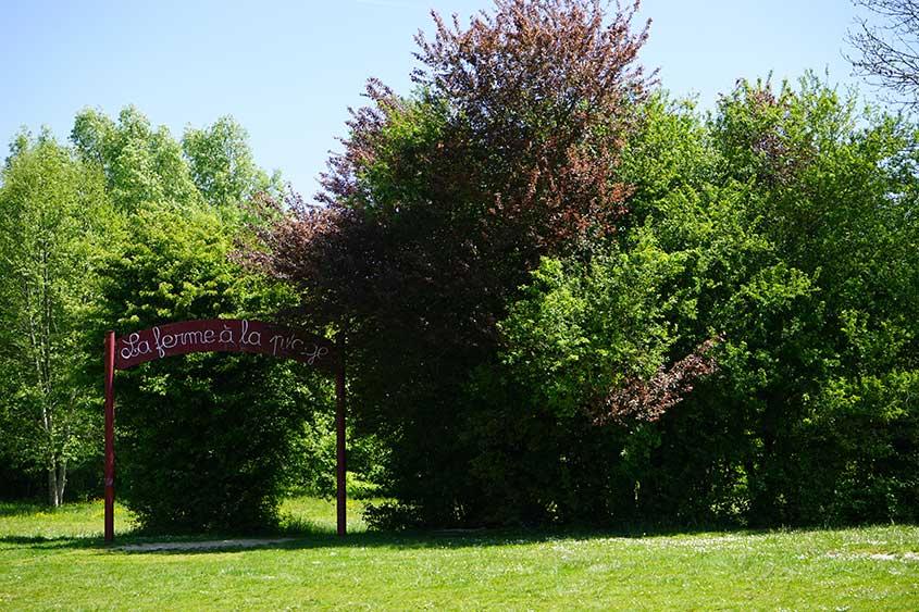 La plage de Meaux est située dans le parc du Pâtis en pleine nature