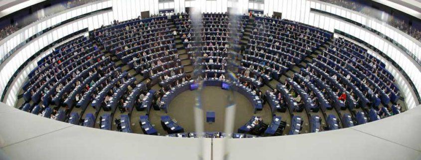 Le Parlement Européen de Strasbourg : vue de l'intérieur