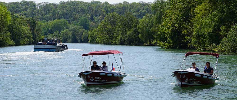 Itinéraire 3H à Meaux : Louez un de nos bateaux électriques et sans permis et découvrez la Marne autrement