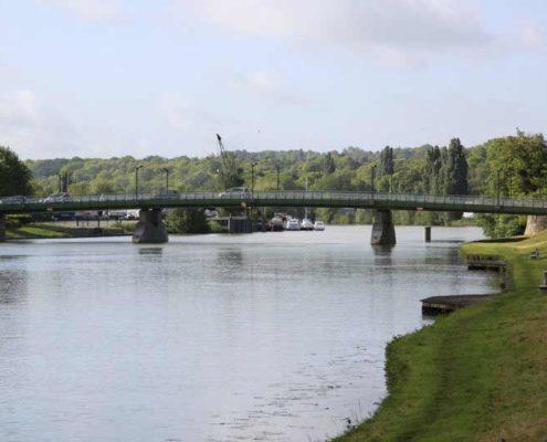 Le pont Foch sur la Marne à Meaux