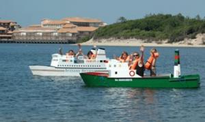 Mini bateaux sur l'eau