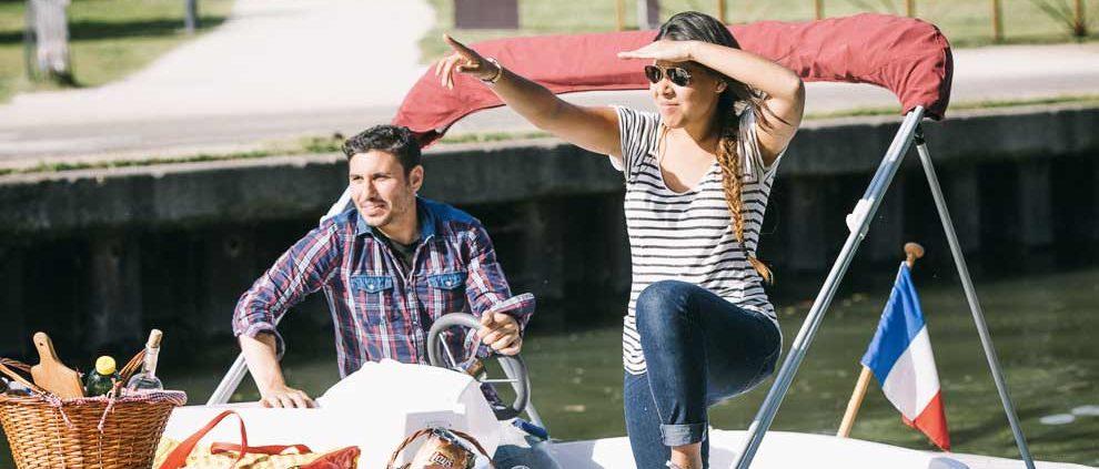 Pique-nique à bord des bateaux sans permis