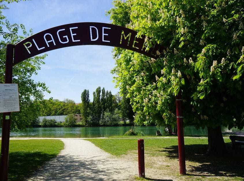 La plage de Meaux, vue sur la Marne