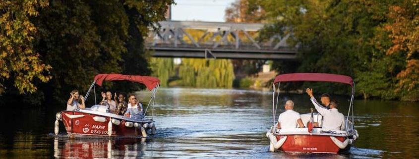 A Strasbourg en pleine nature pour une journée incroyable sur un bateau électrique sans permis
