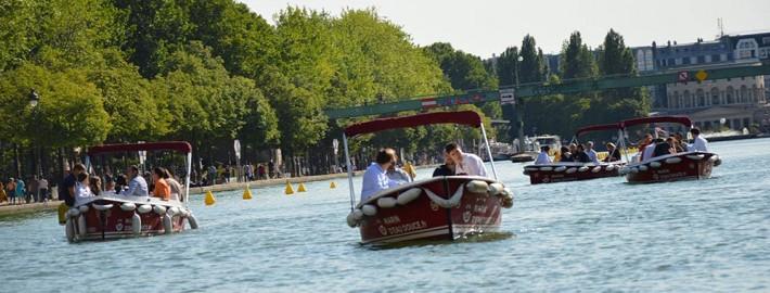 Team building sur un bateau