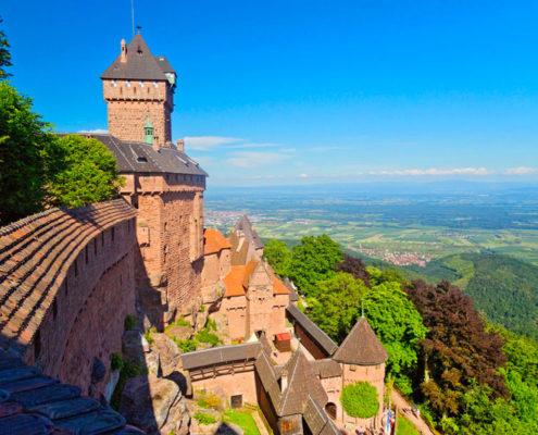 Vue du château de Koenigsbourg